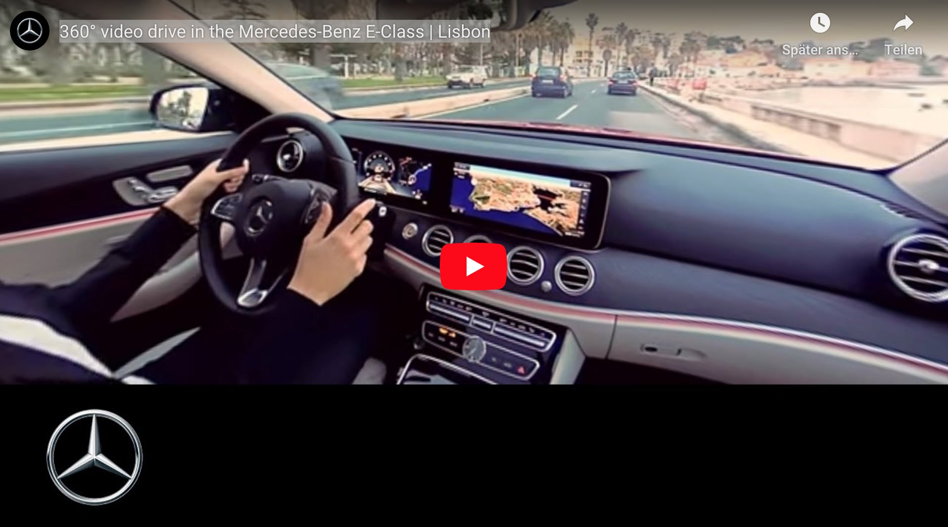 360° Video - VR Virtual Reality Videoproduktion Mercedes Benz E-Klasse in Lissabon
